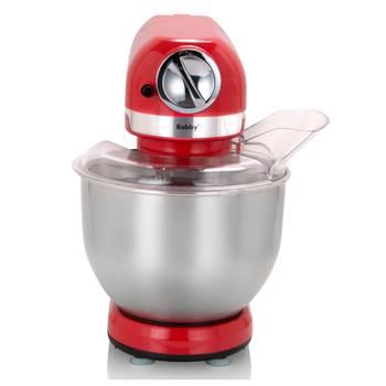 robot multifonctions 5l 1000w rouge avec hachoir et blender 1,5l en verre - robby - robimix rouge