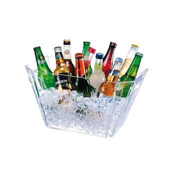 Seau a champagne magnum rectangle acrylique