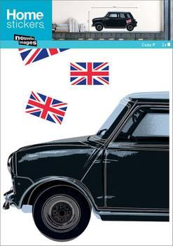 Sticker mural voiture rétro British
