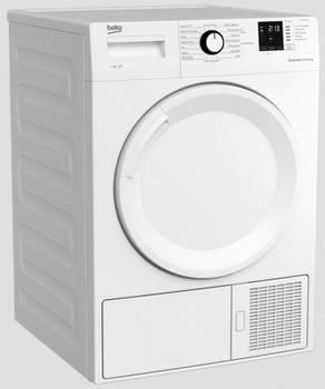 Sèche-linge frontal pompe à chaleur 60cm 7kg a+ blanc - beko - ds7312pa0w