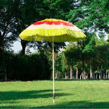 Parasol de plage jardin design hawai multicouleur 160 cm 88