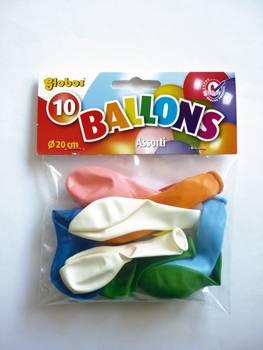 Ballons de baudruche gonflables 25cm 10 pièces - graine créative