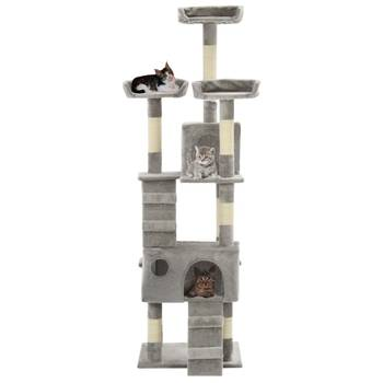Arbre à chat avec griffoirs en sisal 170 cm Gris
