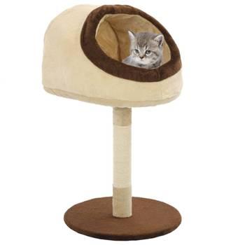 Arbre à chat avec griffoir en sisal 72 cm Beige et marron