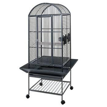 Strong Cage pour perroquet Villa Minerva Gris métallisé 46x46x144 cm