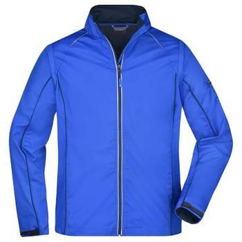 Veste softshell manches amovibles - homme - JN1122 - bleu nautique