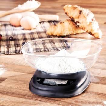 Duronic KS2000 Balance de cuisine numérique avec bol - 5 kg