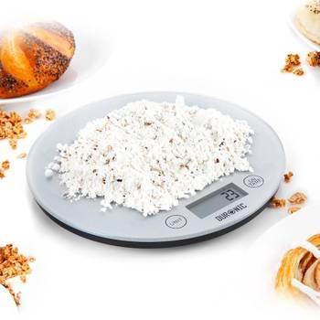 Duronic KS1055 Balance de cuisine numérique avec surface en verre de 18 cm de diamètre- 5kg